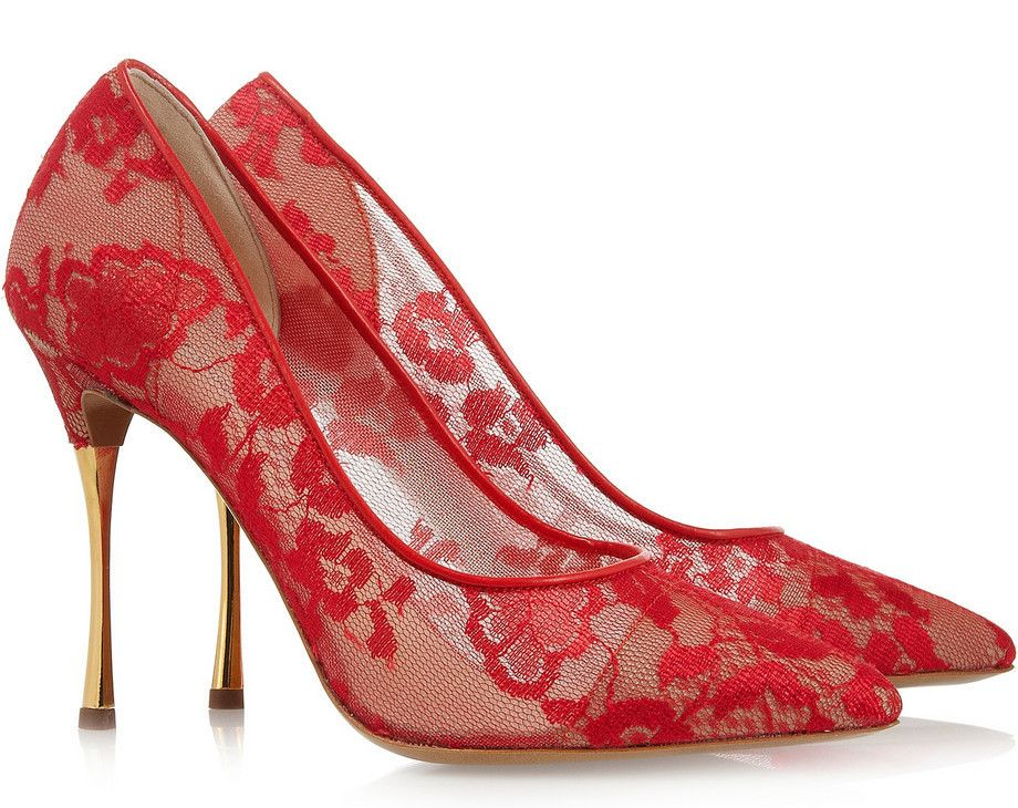 NICHOLAS KIRKWOOD Lace Mesh Pumps Red $595 FREE WORLD DELIVERY * FREE GIFT WRAPPING * FREE RETURNS * 100% QUALITY ASSURANCE GUARANTEED..FOLLOW US ON POLYVORE! WE HAVE JUST BEEN HONORED WITH THE OFFICIAL BLACK SEAL ALONG WITH GUCCI & OTHER GREAT COMPANIES! SAVE $105.00 ON THESE SHOES UNTIL DEC 21st!
