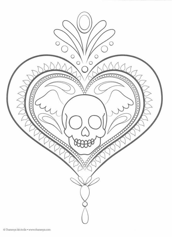 Dibujos Para Colorear El Dia De Los Muertos 18