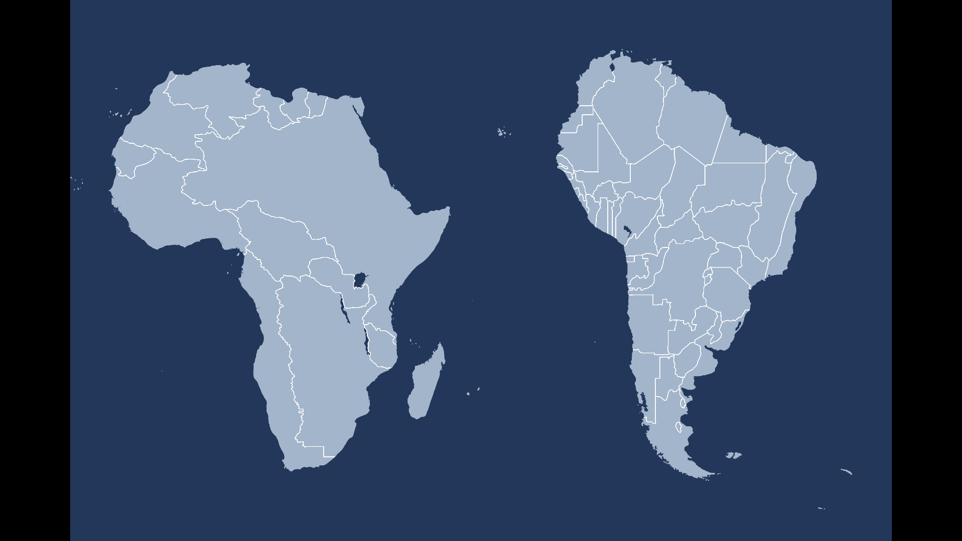 America And Africa Map Switching Borders: Africa and South America (Africa, South America