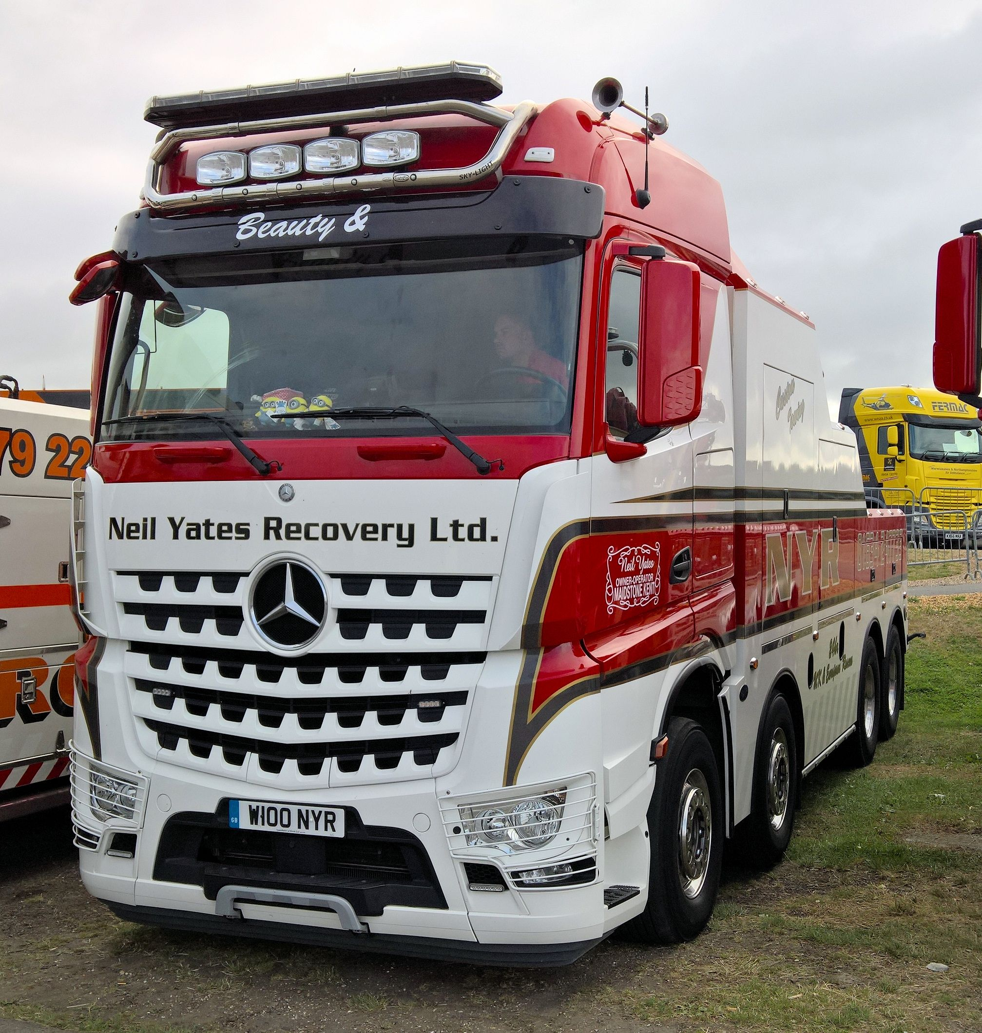 Mercedes arocs nyr recovery silverstone 2016