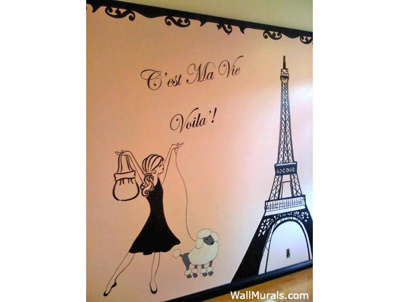 Paris Mural Carolines Bedroom Pinterest Wall murals Dream