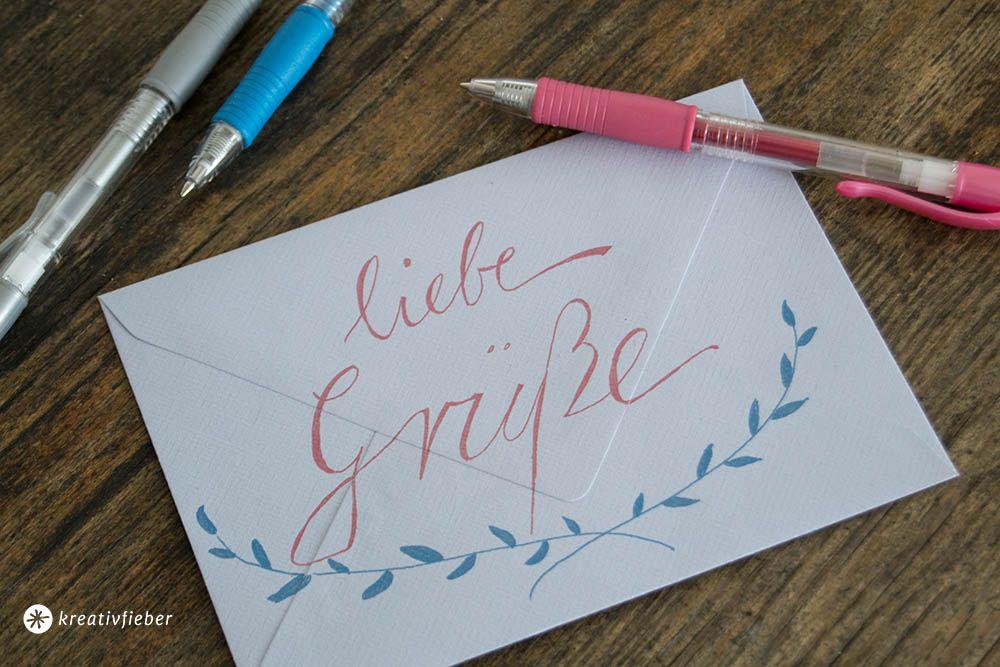 Handgeschriebene Grüße An Die Besten Freunde Kreativfieber Diy Und