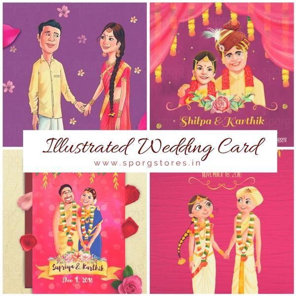 Ilrated Caricature Wedding Invitation
