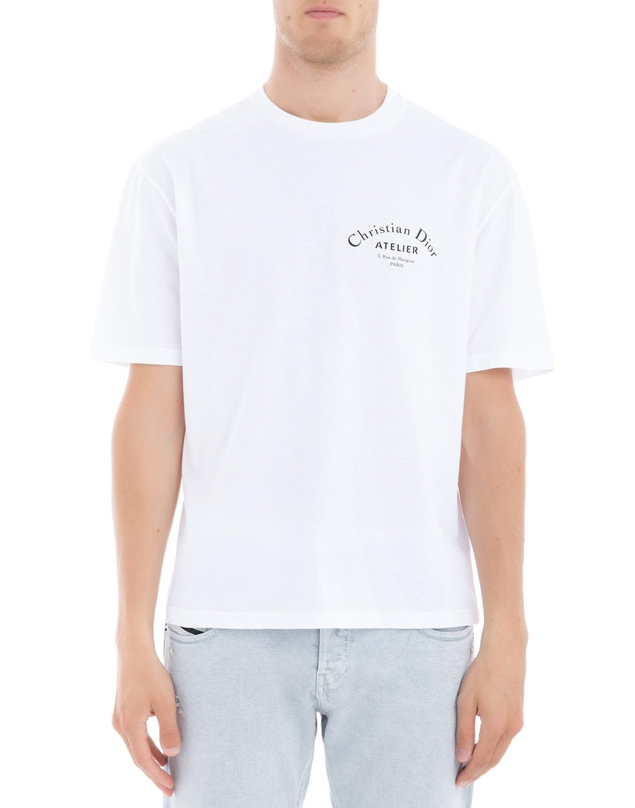 e8ffd85d DIOR HOMME WHITE COTTON T-SHIRT. #diorhomme #cloth #   Dior Homme in ...