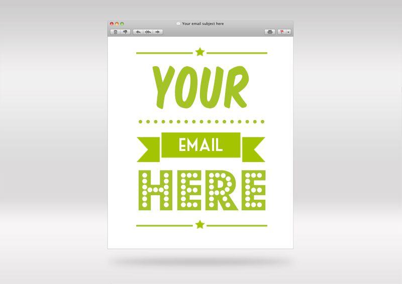 FREE PSD Email Frame Photoshop Mockup Template | Mockups | Pinterest
