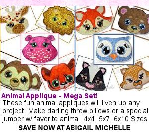 Abigail Michelle | OregonPatchWorks- Animal Applique- Mega Set!