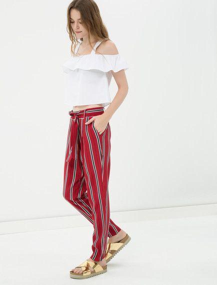 5ca525a739761 Koton - Koton Kadın Çizgili Pantolon | Brand-Store KADIN | Pants ...