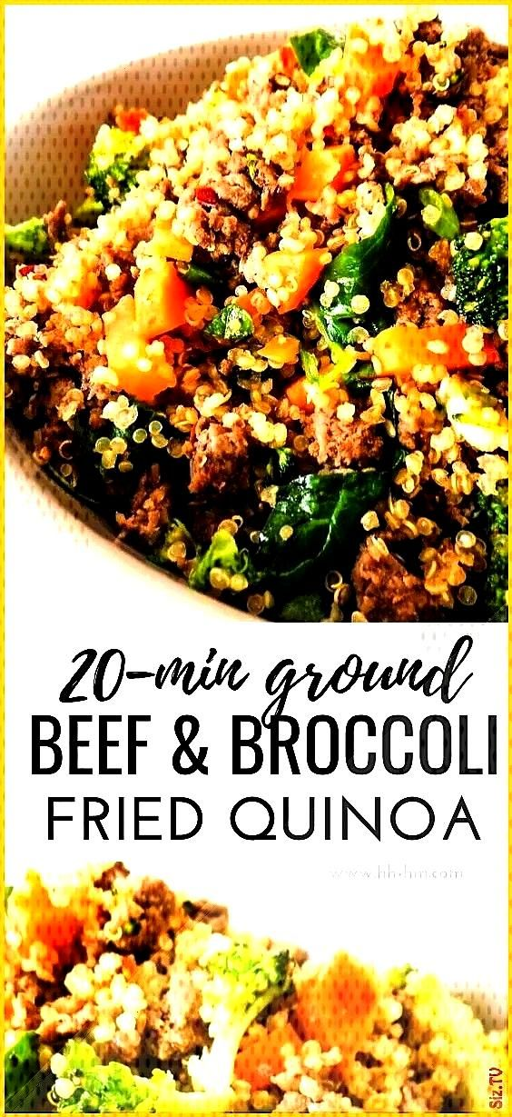 Beef And Broccoli Fried Quinoa  Her Highness Hungry Me beefandbroccoli Healthy Ground Beef And Broc