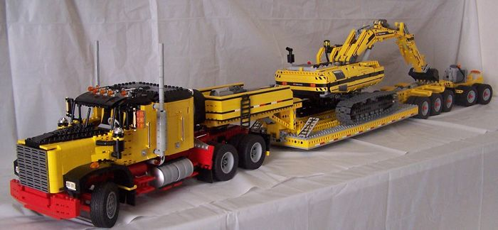 Lego Technic American Truck With Lowloader