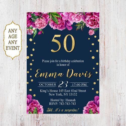 50th birthday invitations 50th birthday invitations for women 072