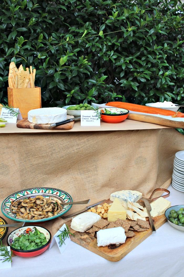 A Stewart party isn't a party without cheese, however this time I gave the antipasto platter a break and set up a table-long Crostini Bar. http://www.lipstickandcake.com/2017/02/crostini-bar/