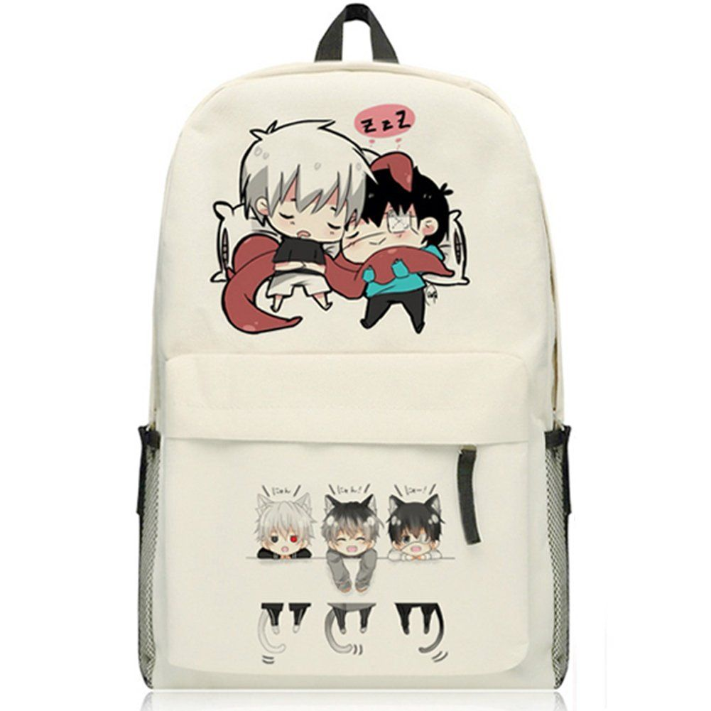 Tokyo Ghoul Kaneki Ken and Sasaki Haise Canvas Beige Shoulder Backpack