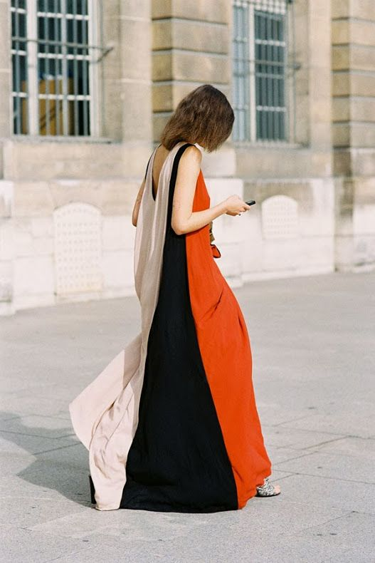 colorblock dress - Paris Fashion Week S/S 2014 via Vanessa Jackman #style #fashion