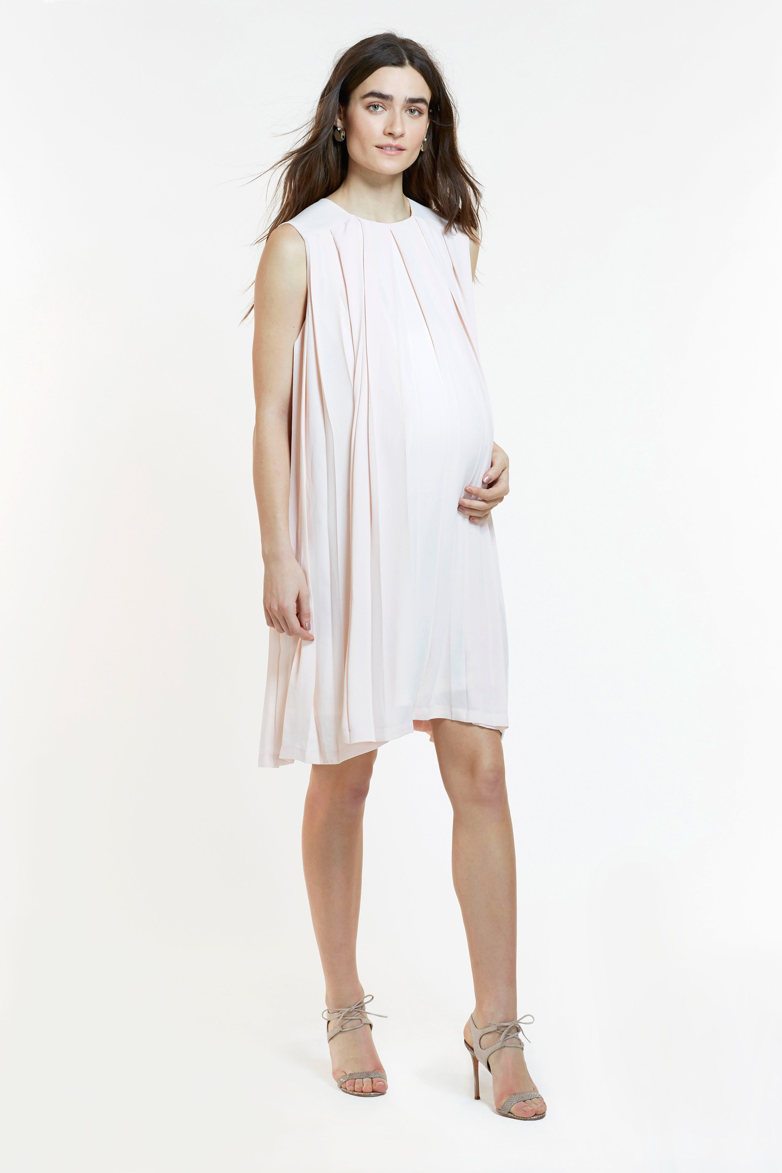 885752fc5b534 Made with butterfly soft Japanese crepe, this classic nursing dress with  beautiful box pleats is as elegant as it is comfortable.