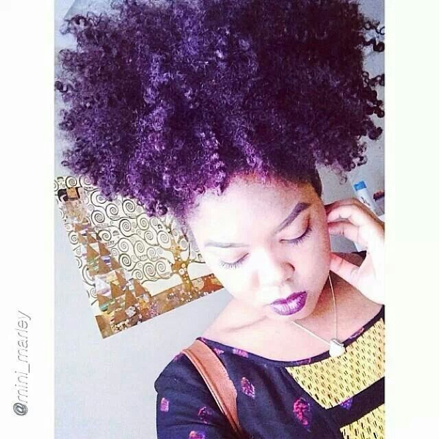 Image result for purple natural hair