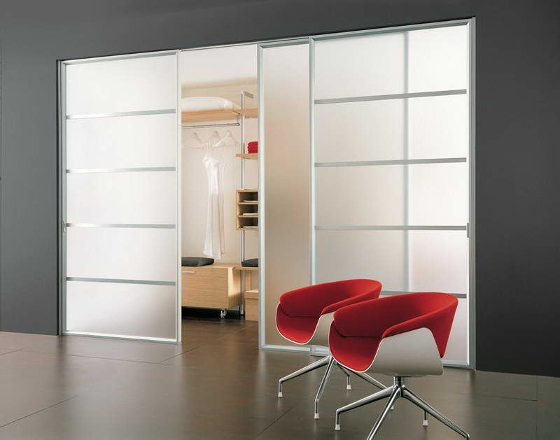 Modern Sliding Closet Doors For Bedrooms With Aluminium And Modern Red  Chairs Awesome Sliding Closet Doors