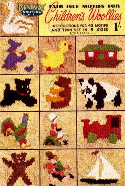 Pdf Knitting Pattern Booklet Rare Vintage Fair Isle Motifs For