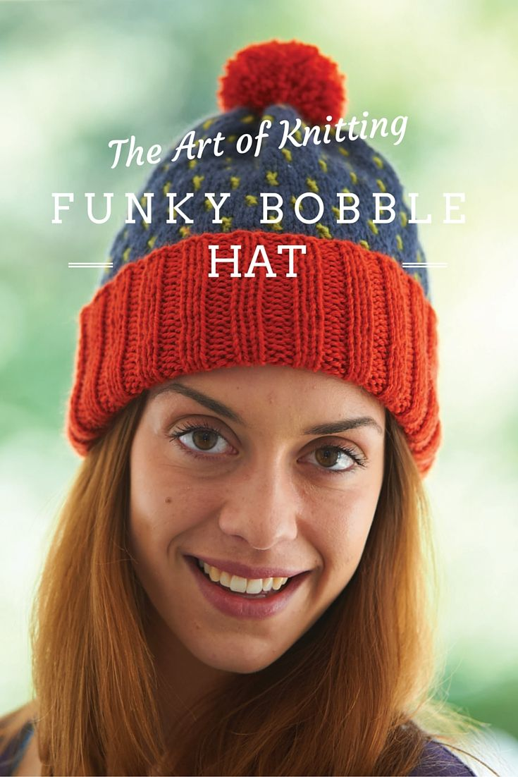 Create this fun and funky bobble hat with issue 9 ...