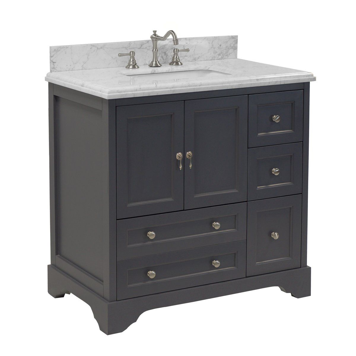 Madison 36 Inch Vanity With Carrara Marble Top In 2020 Single Bathroom Vanity Bathroom Vanity Vanity