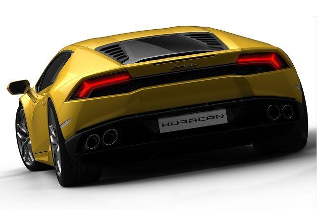 Lamborghini Huracan Sports Car Back View Lamborghini Huracan