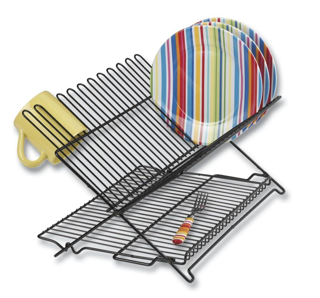 Extra Large Dish Drying Rack Mesmerizing Amazon  Better Houseware 1489 Large Folding Dish Rack Black 2018