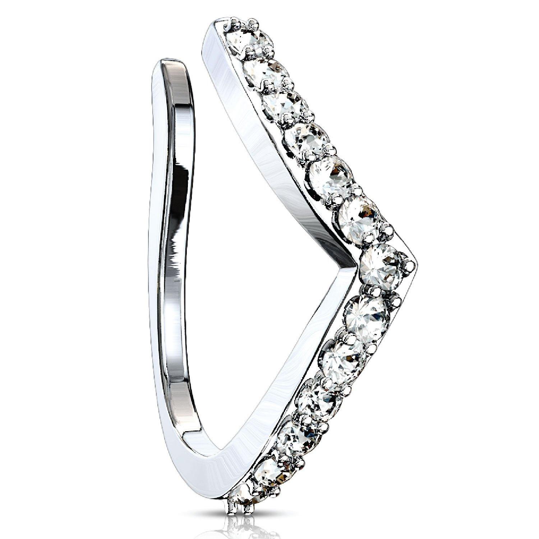 Jewelry Watches Body Piercing Jewelry Cz Heart Arrow 20g Nose