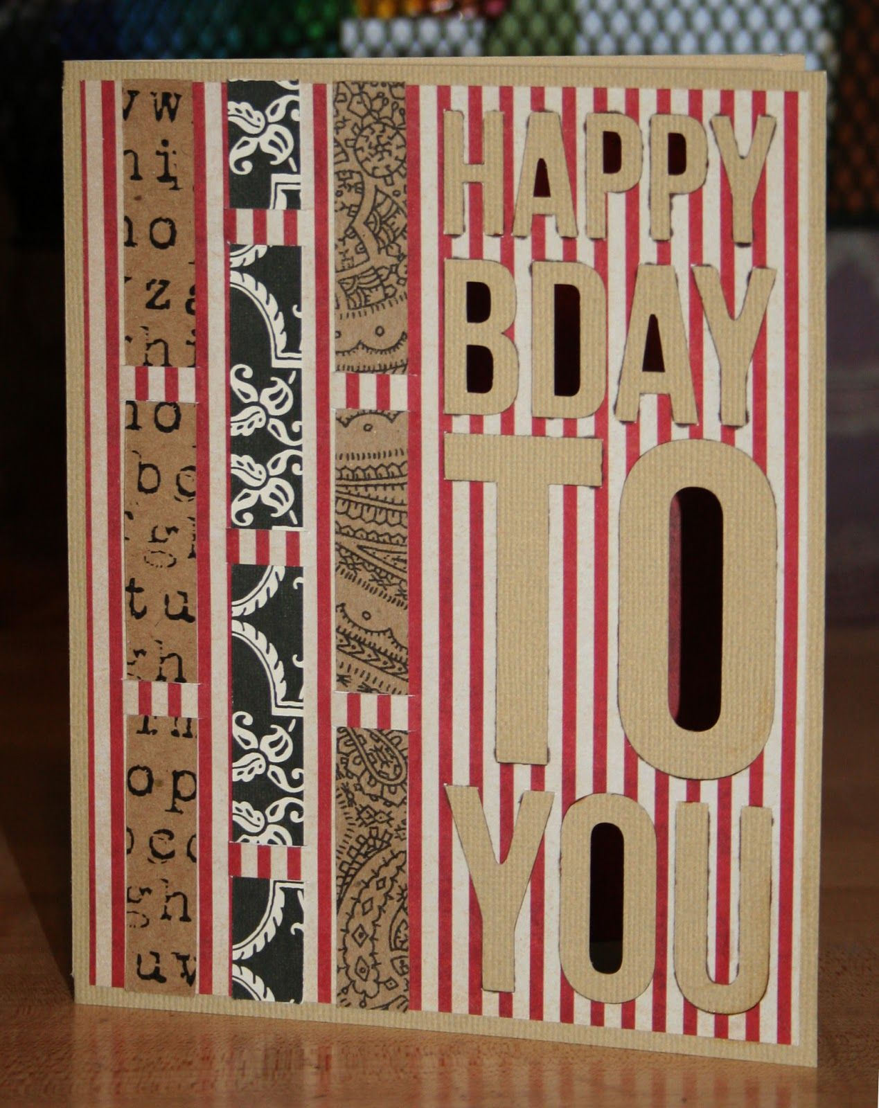 Deb S Happy Birthday Card Is From The Five Minute Cards Svg Kit