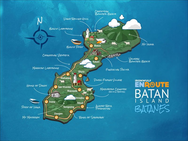 Batanes Islands Philippines Map