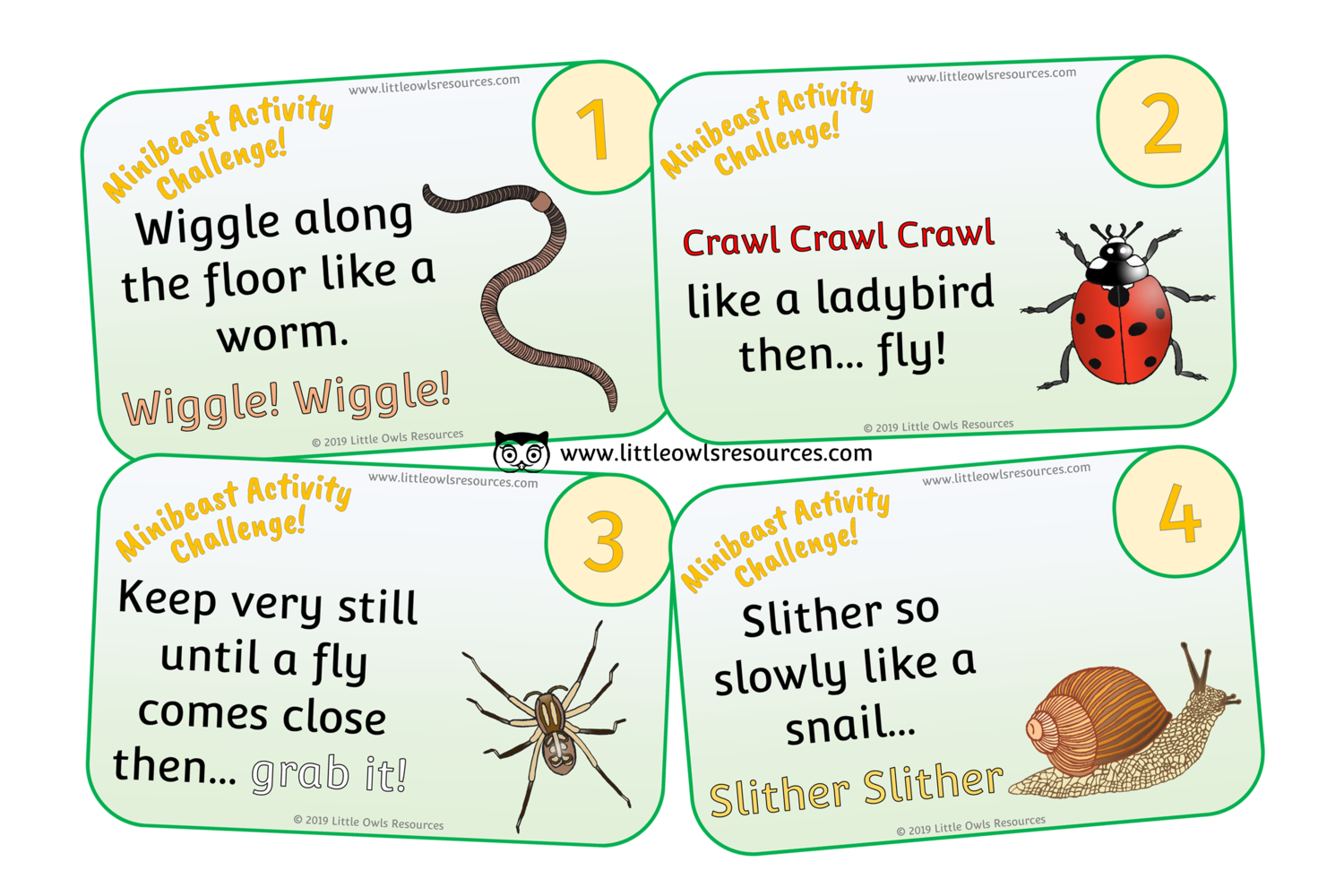 FREE Minibeasts Activity Challenge printable Early Years/EY (EYFS ...