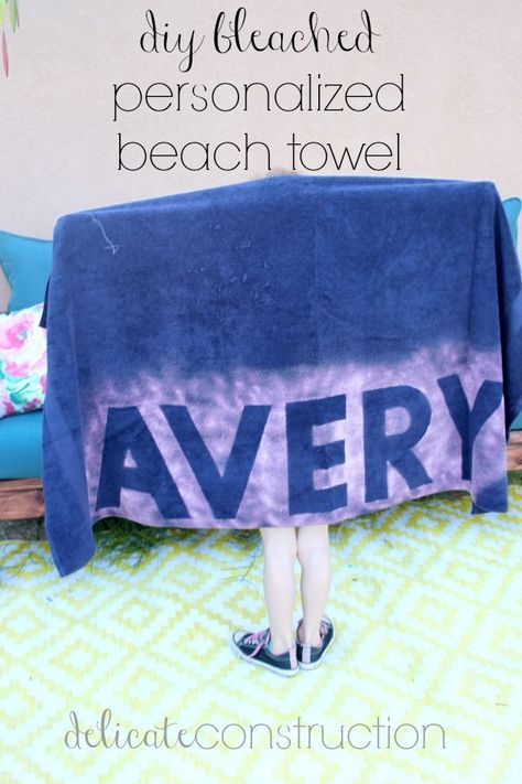 Diy Bleached Personalized Beach Towel Personalized Beach Towel