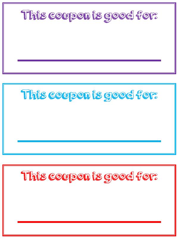 Free Printable Reward Coupons For Kids Reward Coupons Printable Coupon Book Kids Rewards