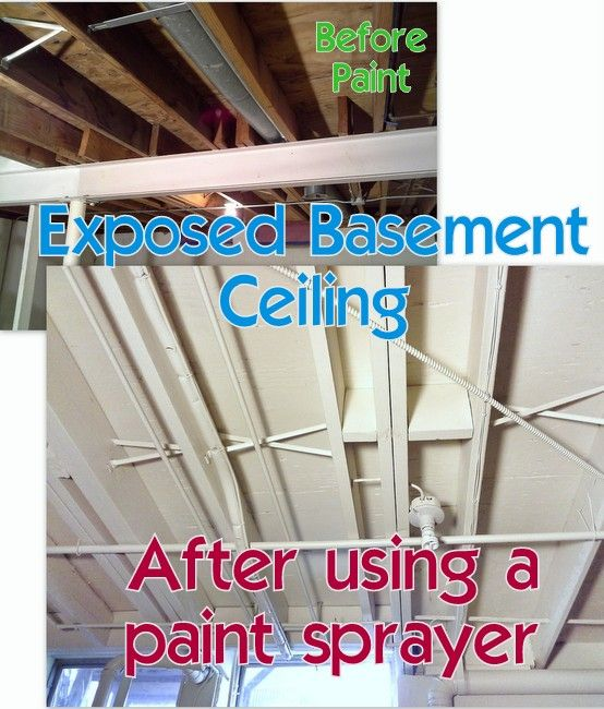Tips For Painting An Exposed Basement Ceiling In 2019