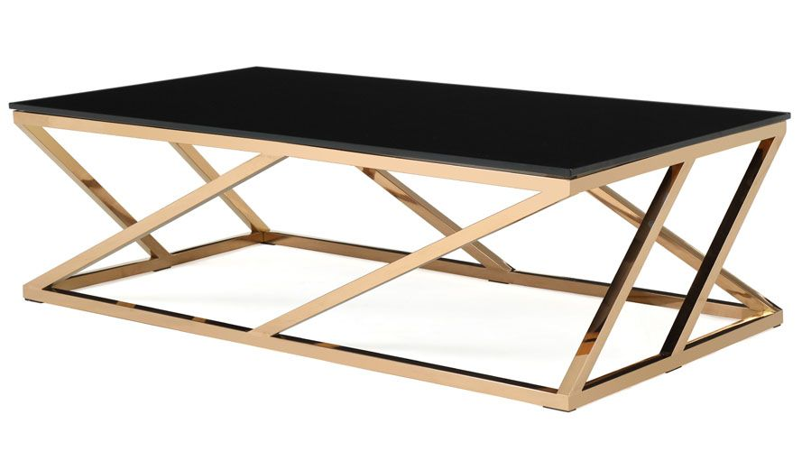 Geo Coffee Table Contemporary Coffee Table Gold Coffee Table