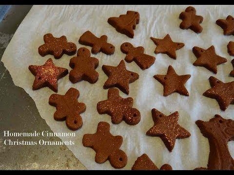 Homemade Cinnamon Christmas Ornaments - A Tutorial - YouTube