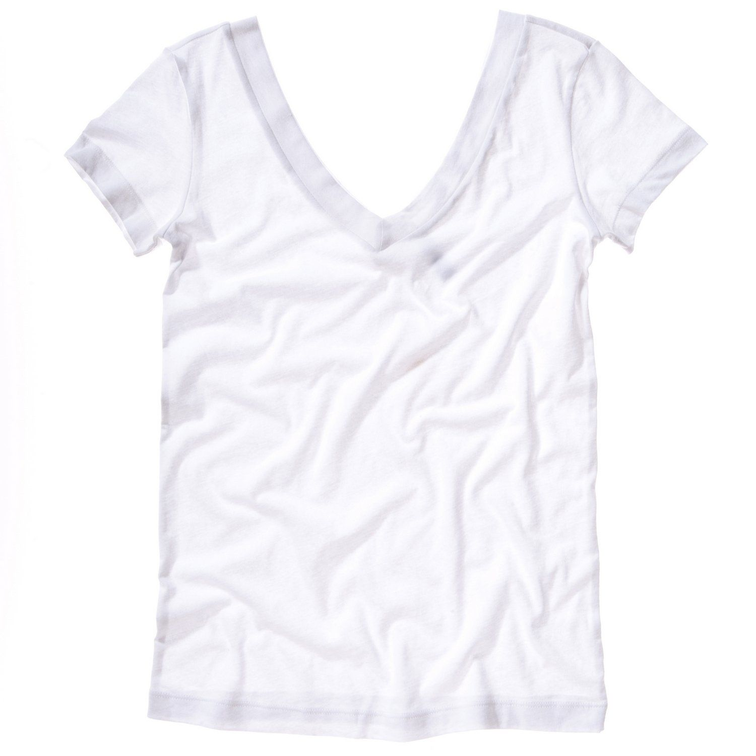 Bella + Canvas Womens/Ladies Sheer Jersey Double-V Neck
