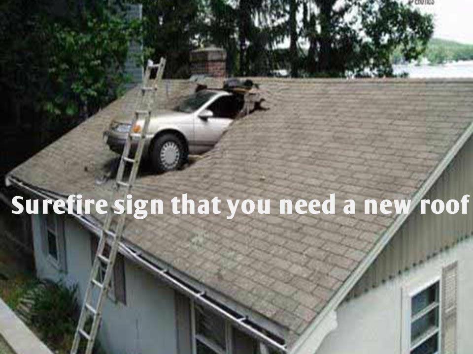 Funny Meme Car Through A Roof Bummer Roofdamage Insuranceclaim Stl Car Fails Car Crash Car