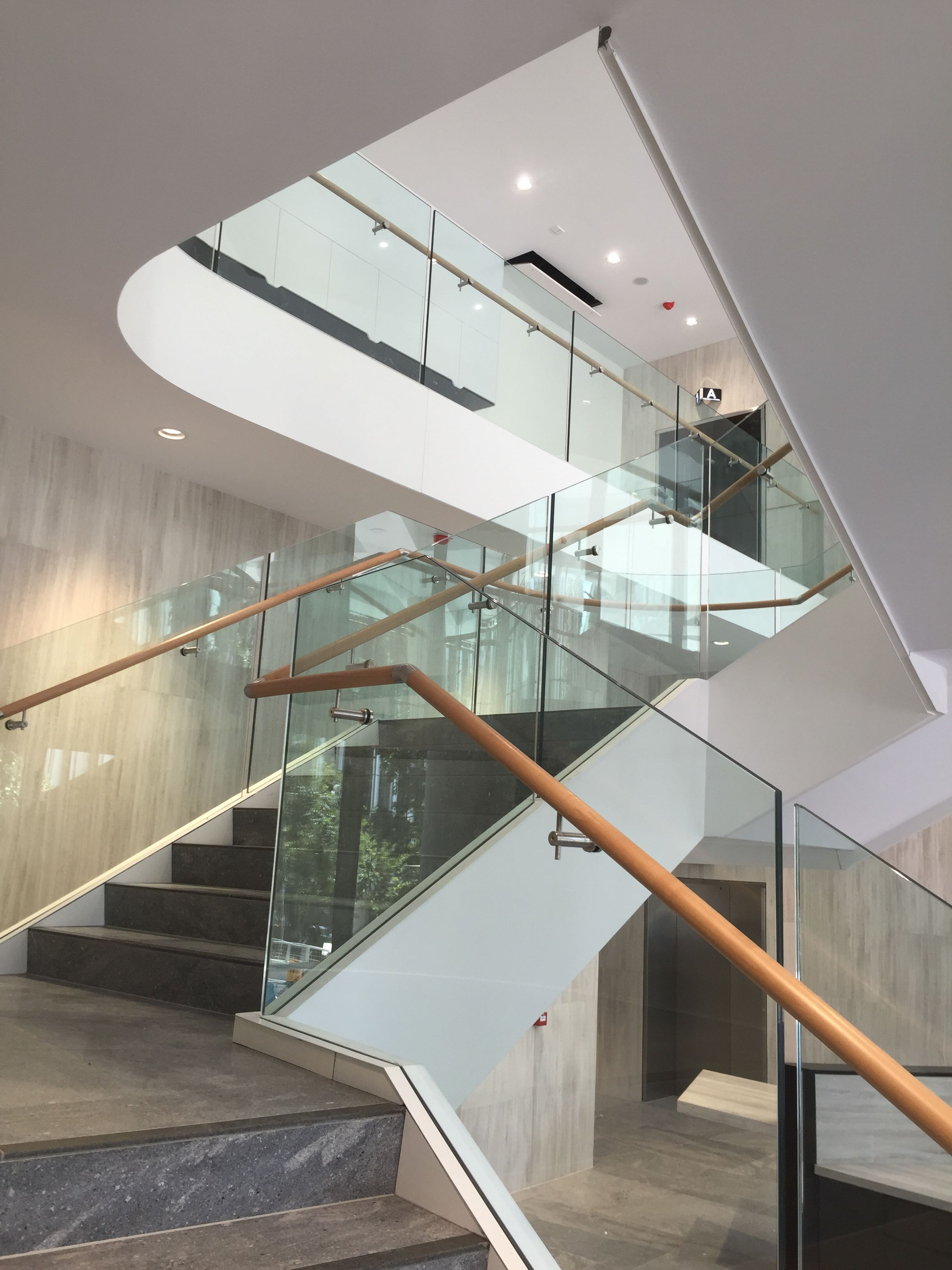 Thump X1 Series Frameless Glass Balustrade on Southpoint Building Flight Centre AU HQ for Watpac