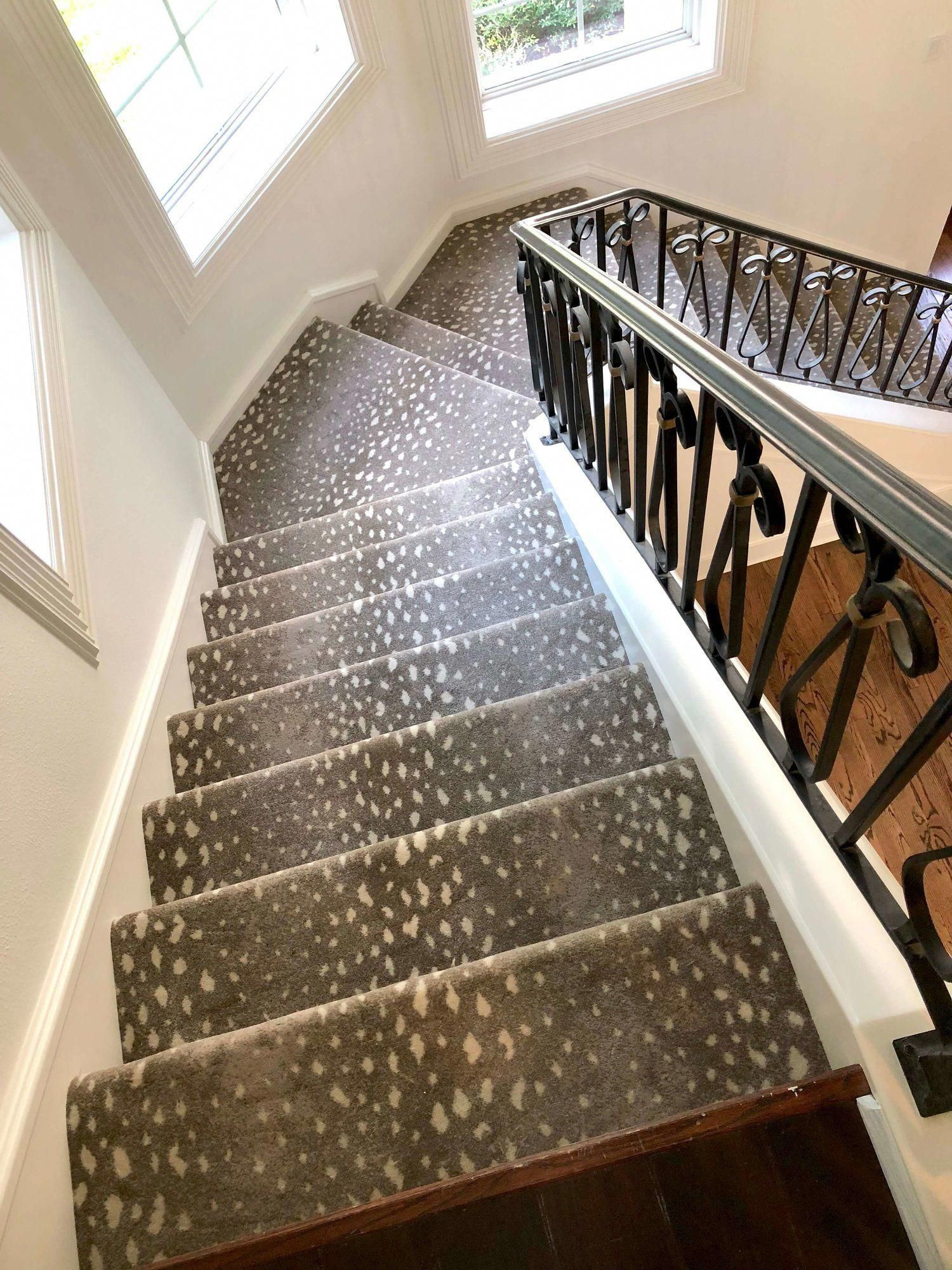 Antelope Pattern Carpet From Stark On The Stairs Designer Carla   Stair Carpets For Sale   Wool   Flooring   Skid   Anderson Tuftex   Mallorca