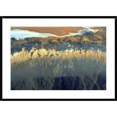 """Global Gallery 'California Aerial' by Tanja Ghirardini Framed Photographic Print Size: 30"""" H x 42"""" W x 1.5"""" D"""