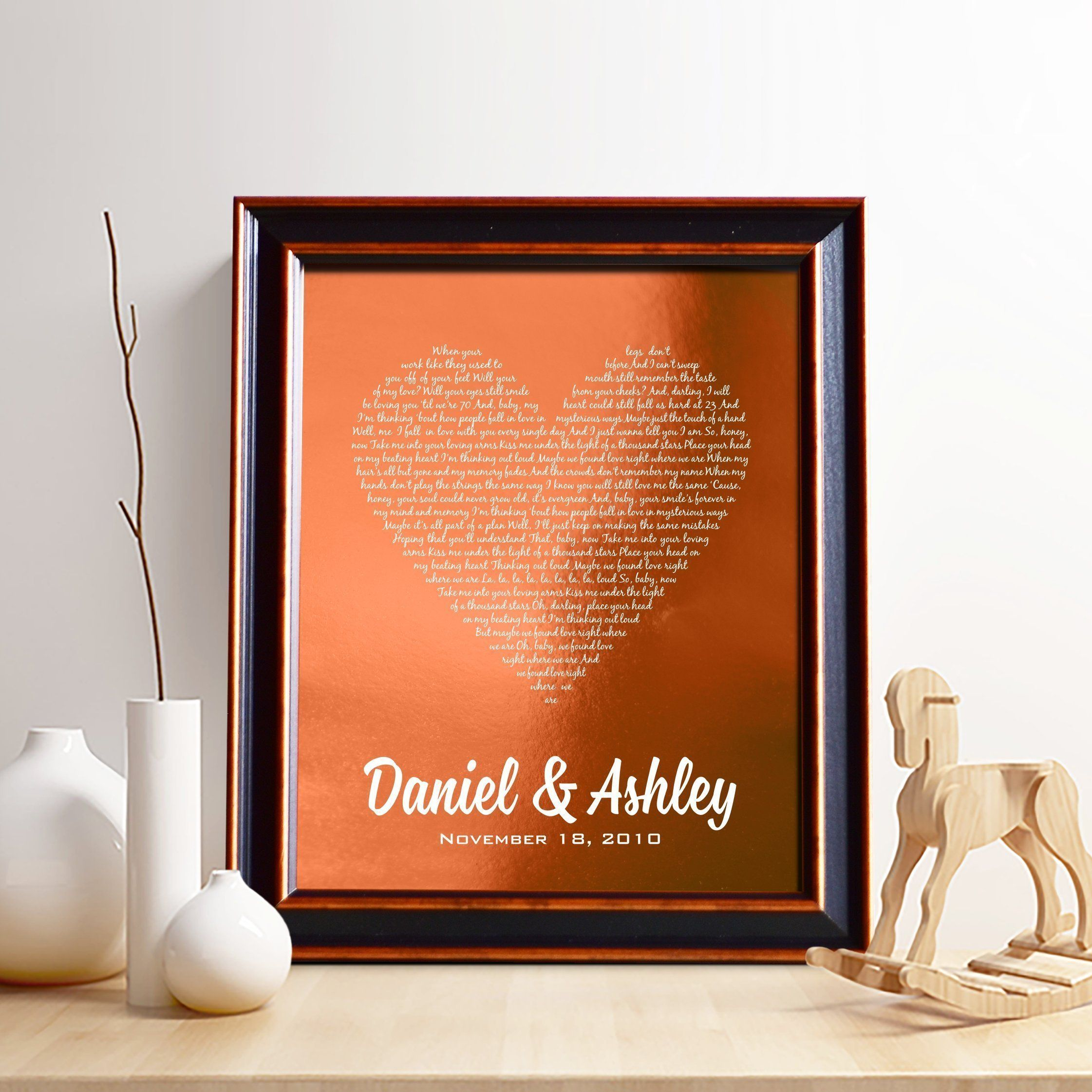 Personalized 7th or 22nd Copper Anniversary Gift for Him