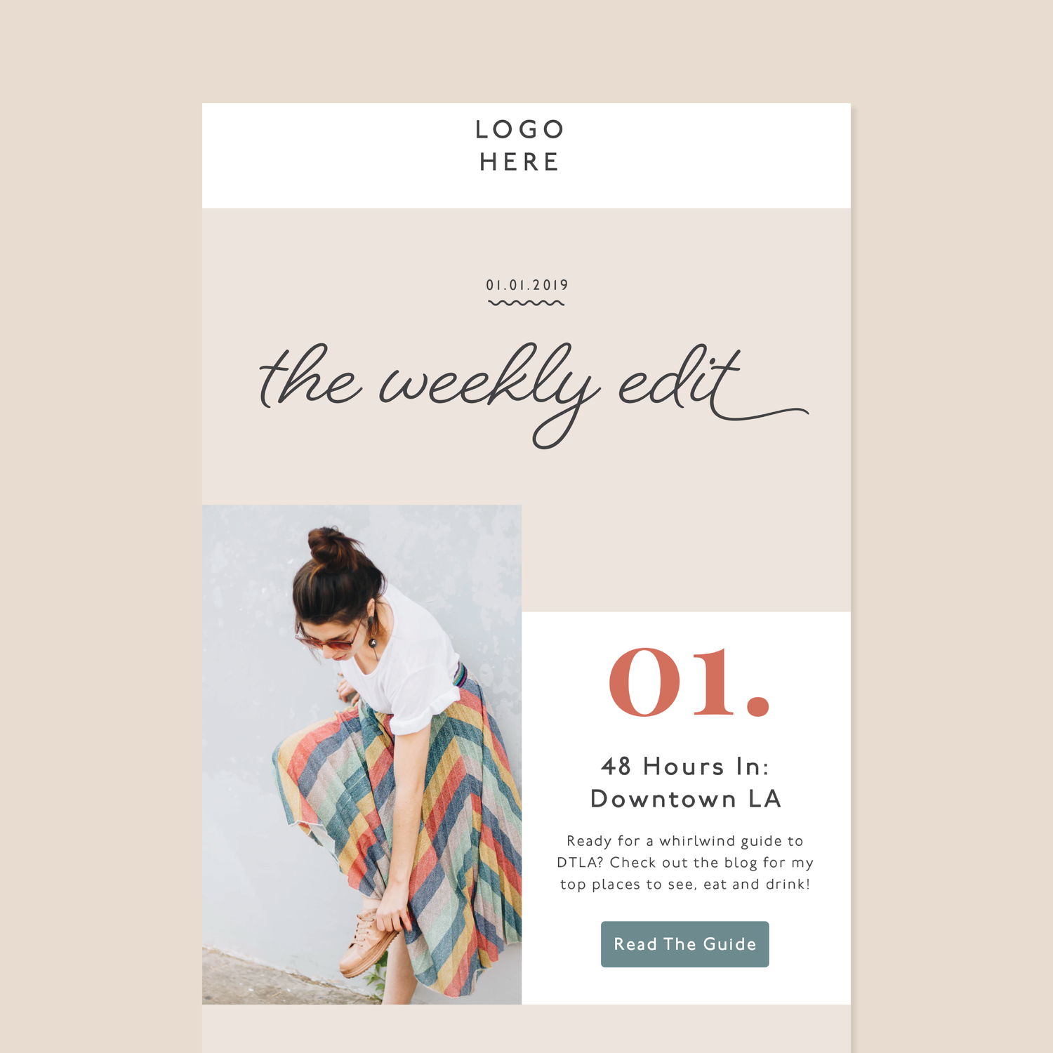 Emily Customizable Email Template Lindsay Scholz Studio Brand Designer Content Strate In 2020 Email Template Design Email Design Inspiration Email Newsletter Design