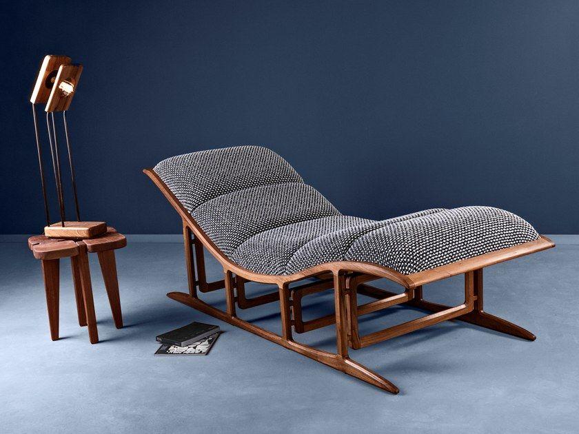 Sedia Sdraio In Legno Imbottita.Chaise Longue Imbottita In Tessuto Most By Hookl Und Stool Design