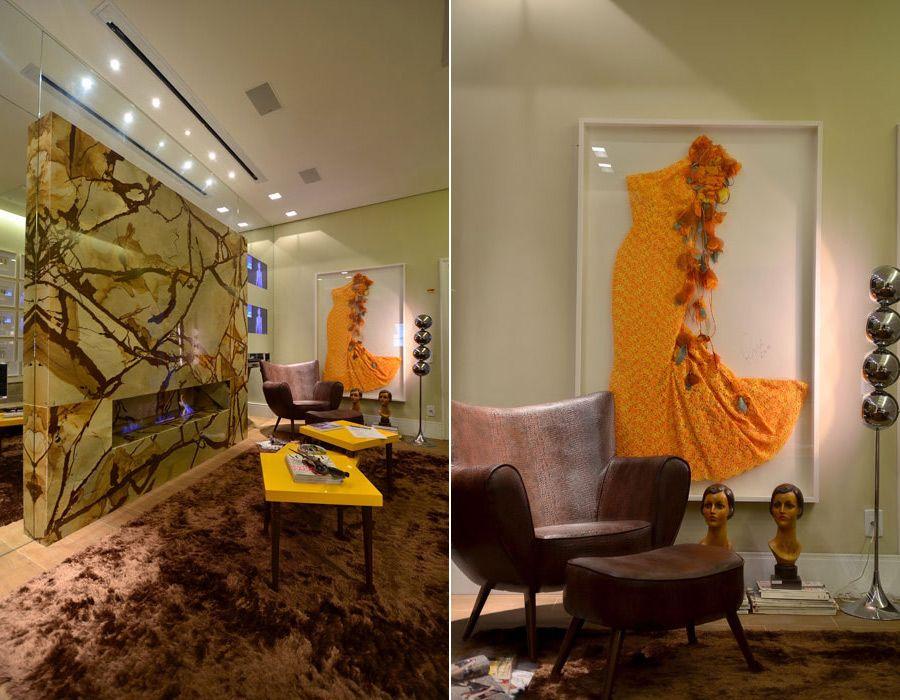 Beautiful framed vintage dress....love! Casa de Valentina - A moda inspira o décor