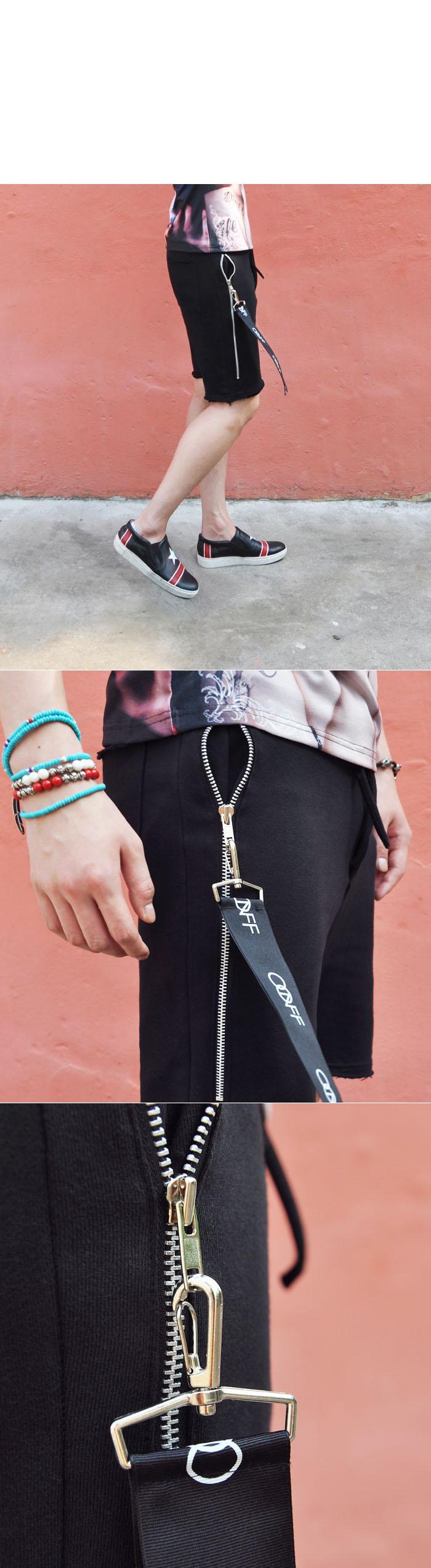 Funky Big Strap Side Zip-Shorts 126 by Guylook.com #men's fashion #guylook…