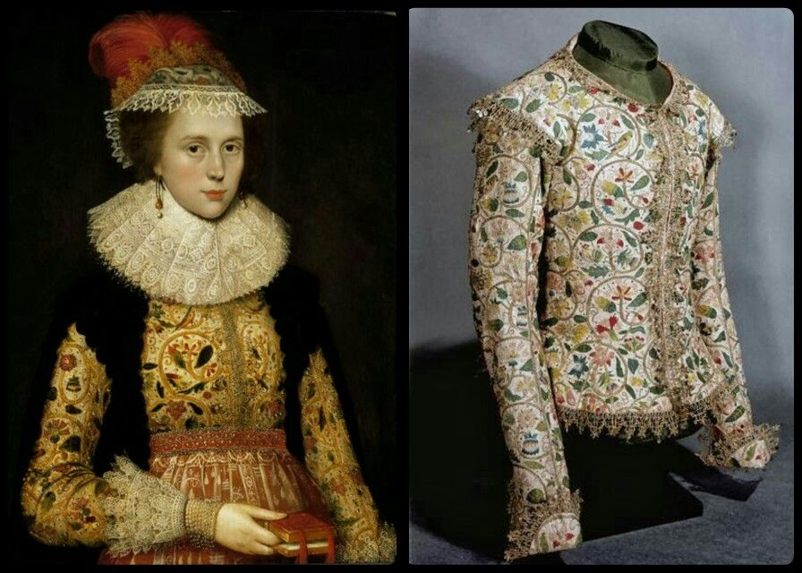 Margaret Layton, wearing the jacket shown on the right , by Marcus Gheeraerts, ca. 1620