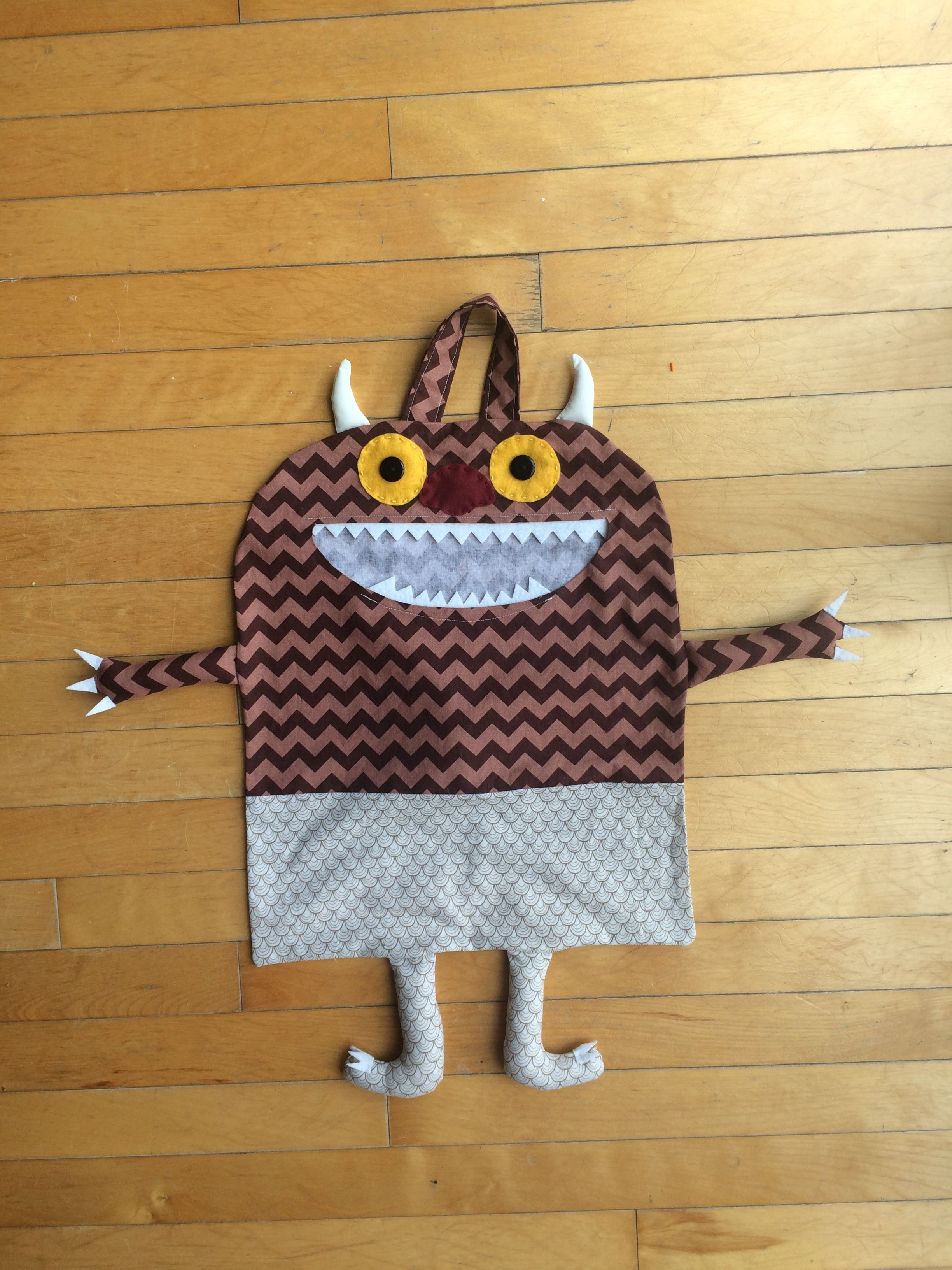 """Carol from """"Where the Wild Things Are"""" inspired Halloween trick or treat bag- great for toddlers!"""