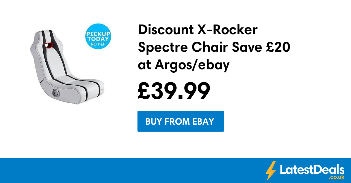 Discount XRocker Spectre Chair Save £20 at Argos/ebay, £
