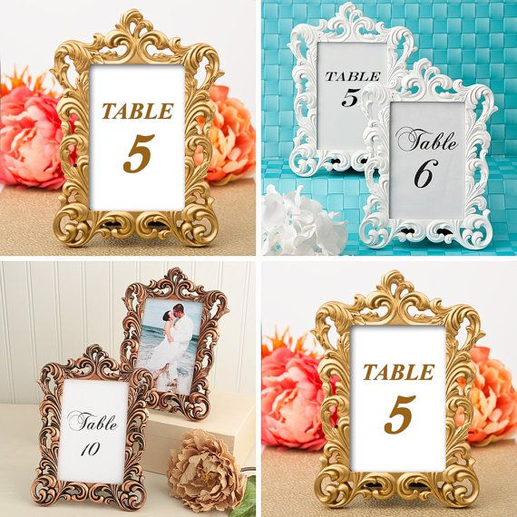 Ornate Frame Wedding Decor 10 Table Number Holder X Picture Numbers Reception