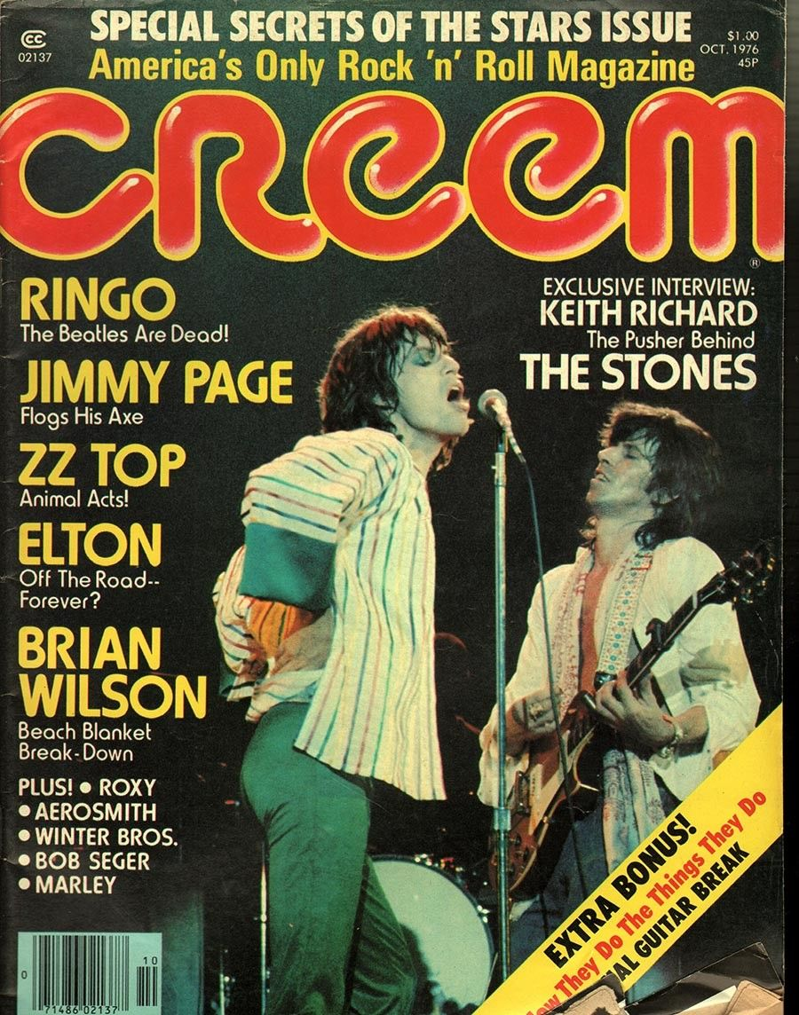 item details: Entire Issuekeywords: Rolling Stones, Mick Jagger, Keith Richard, Ringo Star, Jimmy Page, ZZ Top, Elton John, Brian WilsonCreem (which is always capitalized in print as CREEM despite the