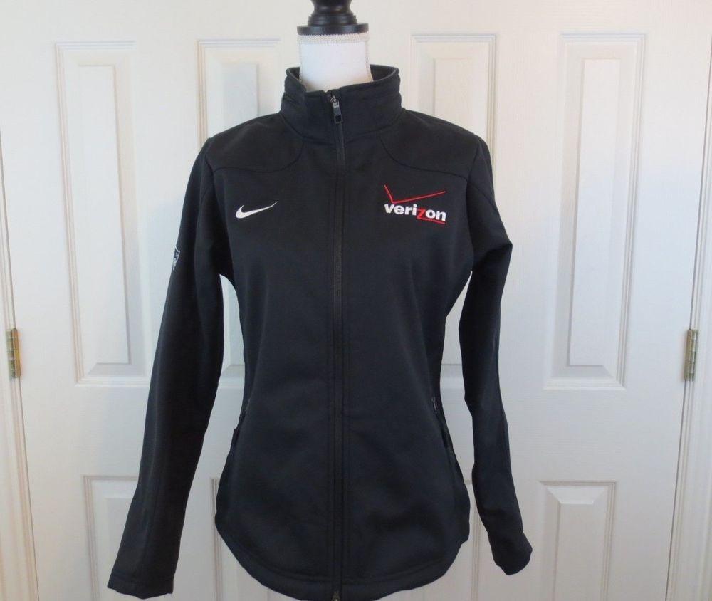 5e007d0999 NIKE Women s Rain Jacket Hidden Hoodie fleece Black Verizon M Patriots  Patch  Nike  Jacket